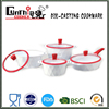 die casting aluminum ceremic cookware set with double grill pan/cooking pot
