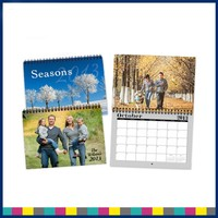 Spiral Bound Paper Custom Table Calendar