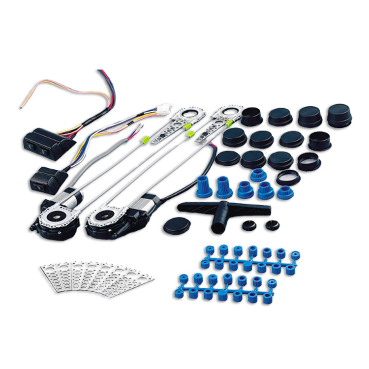 Universal 2-door car power window conversion kit with switch