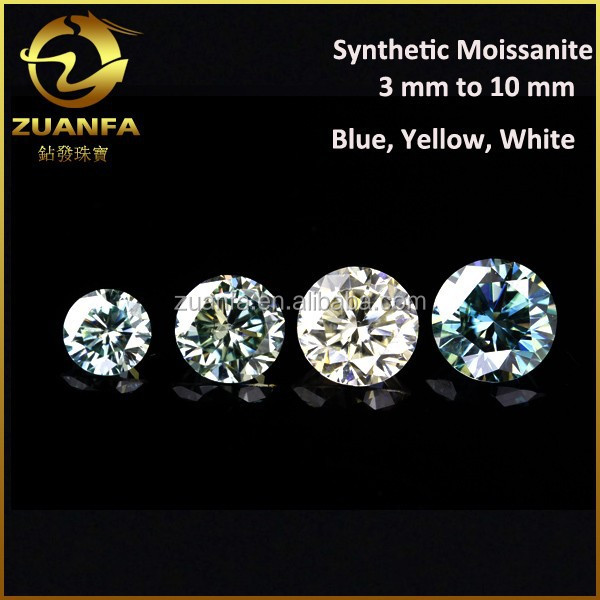 gemstone factory direct sell round brilliant cut forever shining wholesale genuine loose moissanite