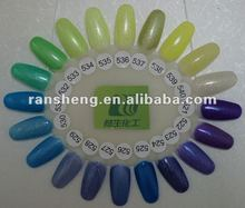 Giltter Gel Polish color chart 521-540