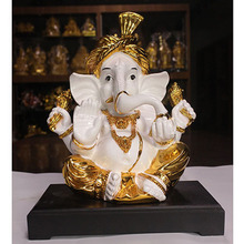 Casting Bronze Religious Lord Ganesh God Elephants Statue