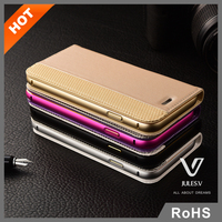 Wallet Style Magnetic Folio Flip Portable flip stand leather phone case for iphone 6 case