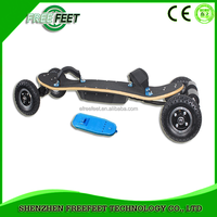 2016 hot products 4 wheels off road gas electric skateboard powerful 800w electric scooter