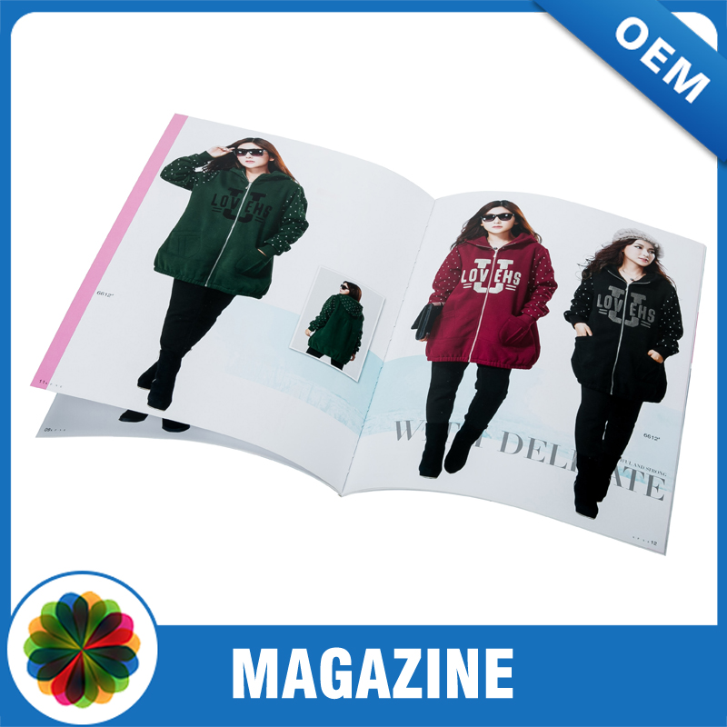 custom high quality glossy lamination magazine printing