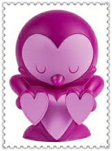 6'' heart shape purple little bird vinyl toys/OEM pop design kids vinyl toys/custom gift urban vinyl figure toys China supplier