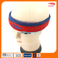 Factory Wholesale Custom Embroidery Printing Logo Patch Sweat Elastic Sports Headband