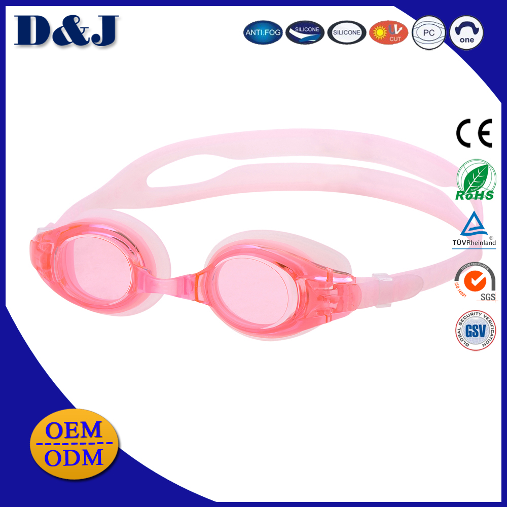 Super Quality Silicone Optical Kids Swim Goggles For Junior With Faulty Vision