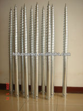 galvanized square ground/round screw pole anchor for fence