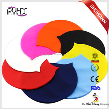 Seamless Round Silicone Swimming Cap Printing Swimming Cap