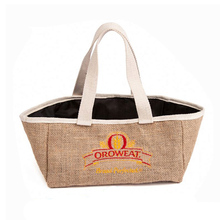 Import China Products Ladies Fashionable Personalised Jute Bag For Shopping