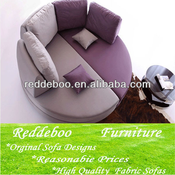 The hot-selling round sofa, oval sofa ,sofa fabric bed home furniture 2112
