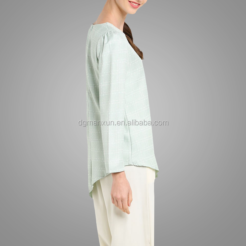 Latest high quality muslim women tops trendy fashion islamic blouses