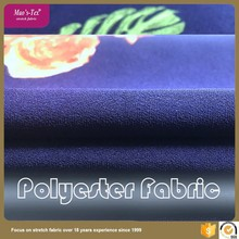 Nice lower price interlock style design 75D polyester 4 way stretch printed fabric for garment textile