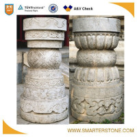 Round hollow columns with exquisite sculpture