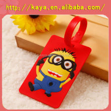2016 Hot Sale Silicone hotel luggage tag, travel bag parts, PVC luggage tag
