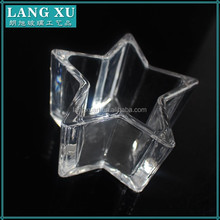 LX-091 crystal glass star candle holder for wax candle