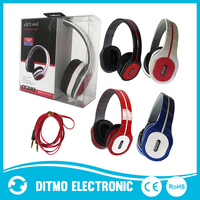 Powerful bass wired headphones with microphone and volume control ,adjustable headphone from headphone factory