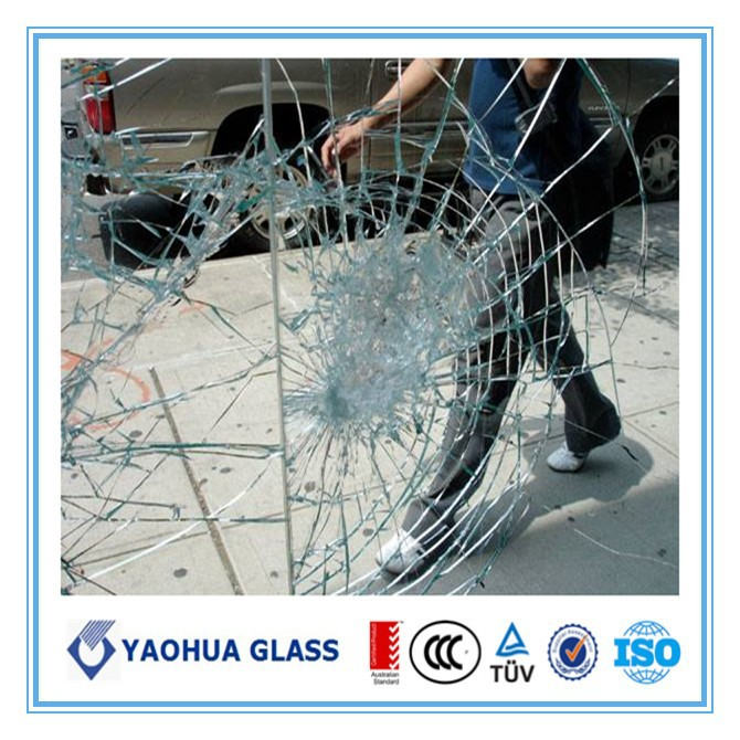 laminated glass for bullet resistant glazing
