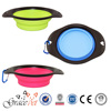 Environmental Friendly Silicone Pet Collapsible Travel Bowl Folding Dog Bowl Portable
