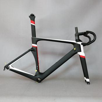2018 DI2 Aero Carbon Road Frame Cycling Frameset With Integrated Handlebar