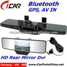 bluetooth dual lens 4.3'' Screen g-sensor 720p hd pen mini dvr