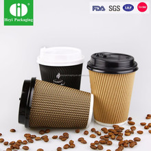 FDA tested disposable paper cup for hot drinking
