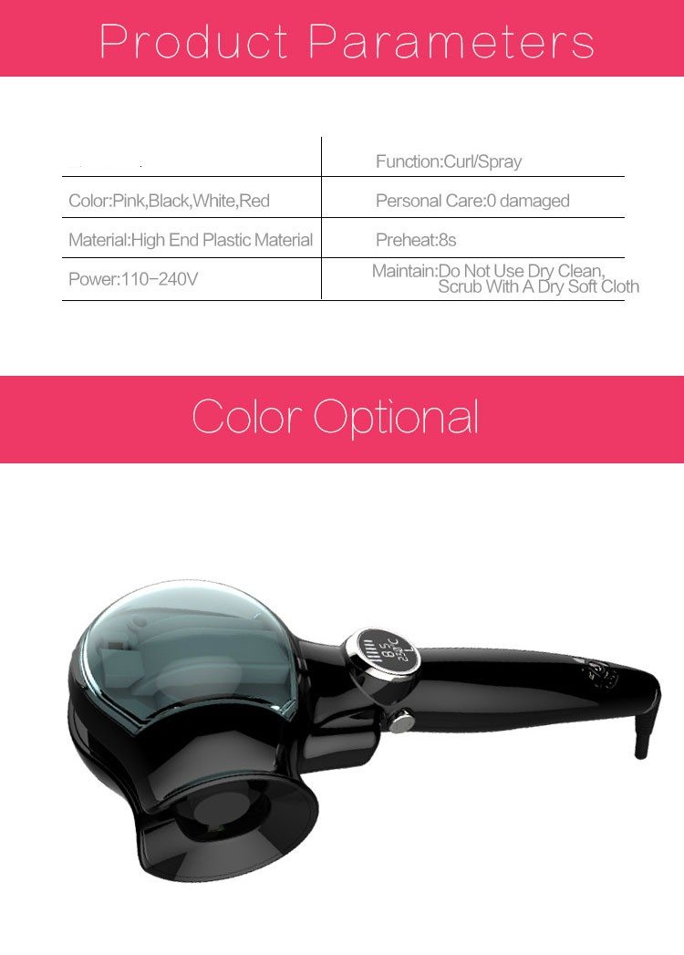 2017 Newest Style Automatic Salon/House Using Steam Hair Curler