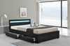Promotional storage leather bed with LED light