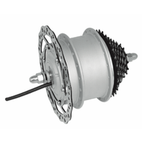 Shengyi 250w brushless geared electric bike hub motor with disc brake mechanism(DGW10-MD)