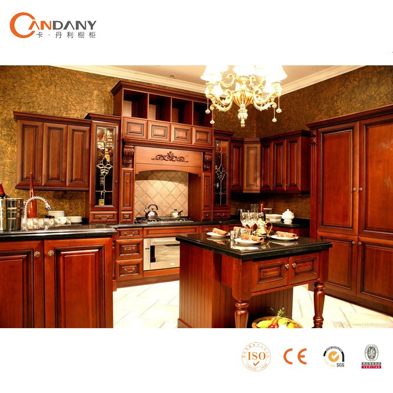 New products 2015 kitchen cabinet solid wood kitchen for Kitchen modeler