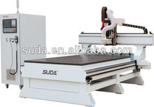 Hefei SUDA CNC router machine center moving column center MG1325A with one 10kw spindle