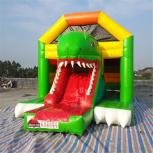 EU standard China inflatable combo inflatable toy inflatable dinosaur bouncer with slide