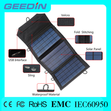 Double USB charging interface hot sexi move 5w portable folding solar panel for camping for South Africa market