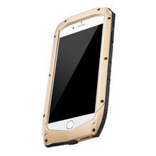 Best Metallic Silicone Hybrid Combo Anti Throw Phone Case for iPhone 6 6s Waterproof Shell for iPhone