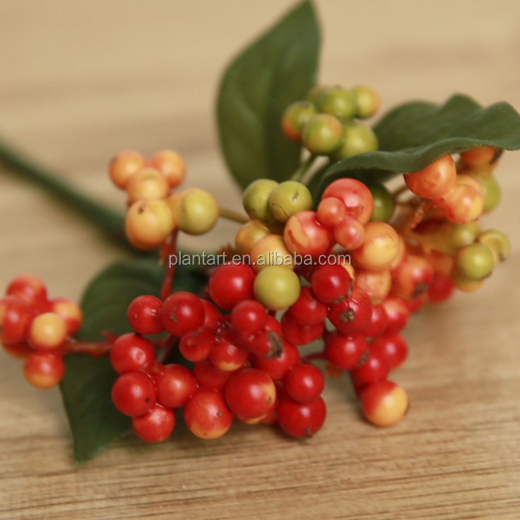 Shuyi wholesale high quality 22cm/8.6inches artificial red Christmas berries for Christmas decoration