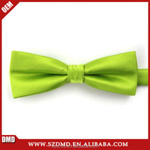 Top Quality Light Green Handmade Ribbon Bow Tie