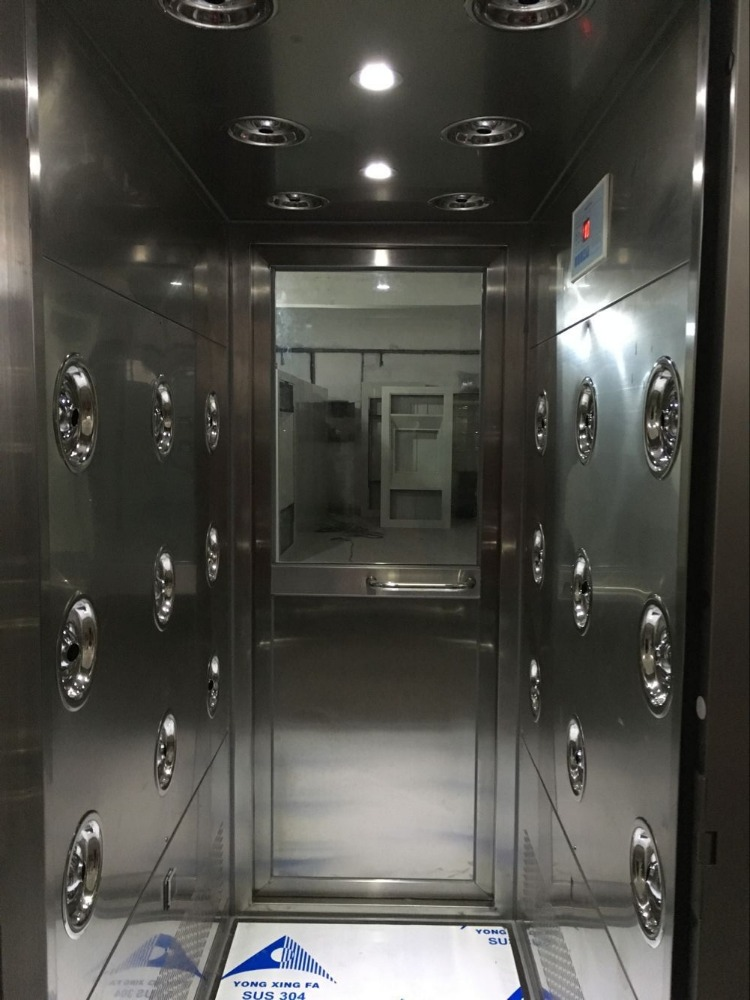Automatic stainless steel material air shower cleaning room used for passing pallet truck