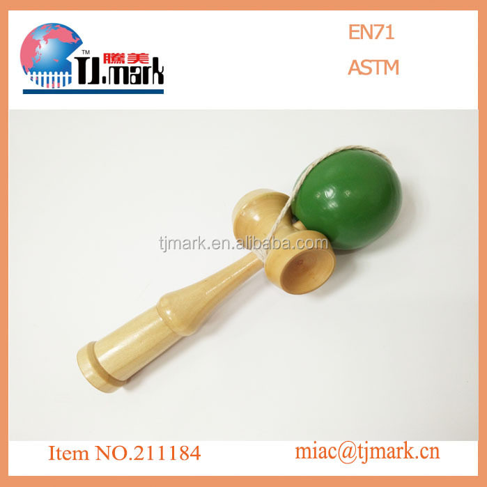 Hot sale custom garden game wooden toys wooden kendama toy, educational kendama toys
