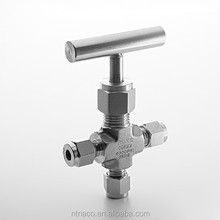 SS316L Natural Gas 3 Way Needle Valve Swagelok High Pressure