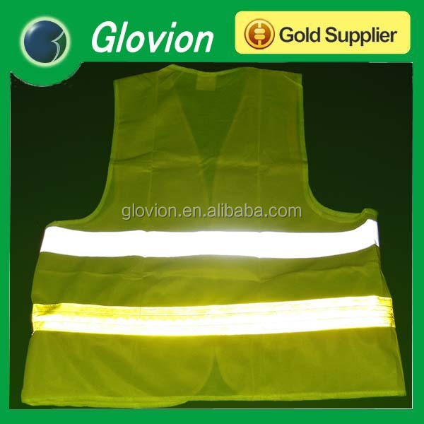 Useful Safety Fluorescence yellow USB reflective High visible vest cloths led flashing safety vest