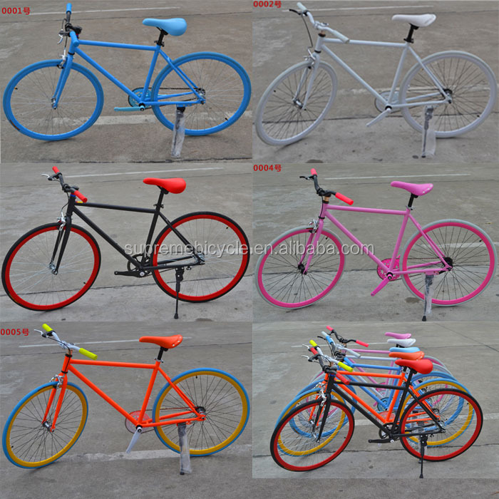 2016 new product! Single speed fixed gear bike, Carbon steel fixed gear <strong>bicycle</strong>, OME colorful fixed bike