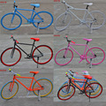 2017 new product! Single speed fixed gear bike, steel fixie gear bicycle, OME colorful fixed bike