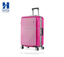 2016 new arrival unique and strong high quality aluminium frame luggage/Travel Suitcase On 4 Wheels