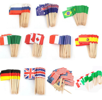 Olympics Countries Decoration Printing Cocktail Custom toothpick flag printing