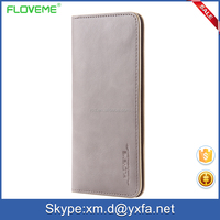 china supplier card slot genuine leather FLOVEME brand flip cover wallet case for huawei mate 8