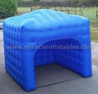 High quality blue inflatable cube tent for outdoor C1029