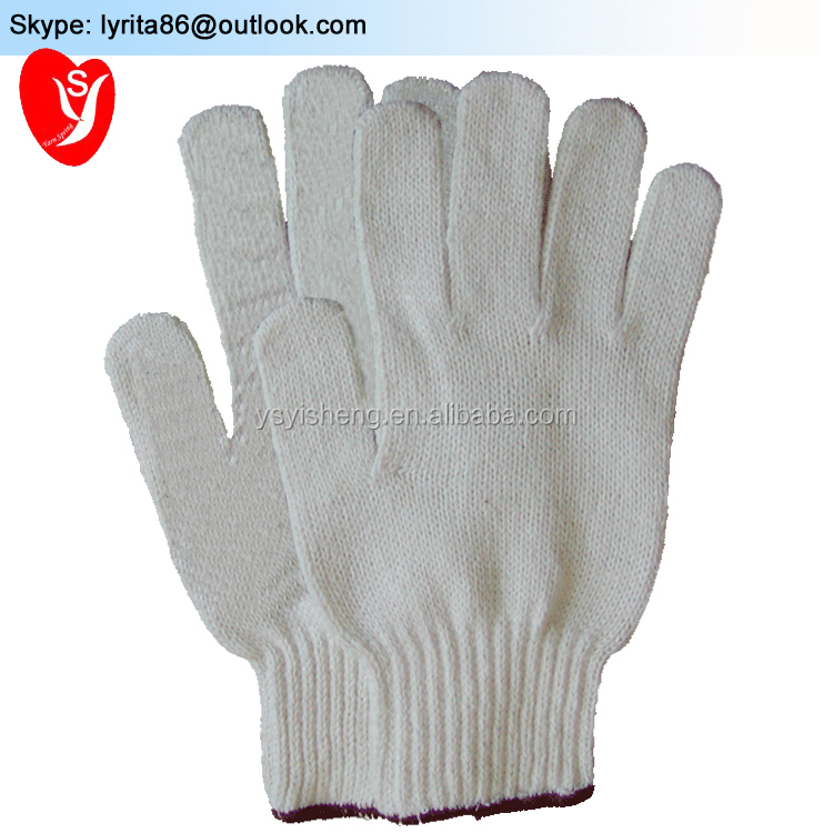 7 gauge different weight <strong>A</strong> grade cotton glove China factory