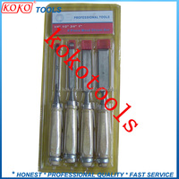 4pcs sets wooden handle metal ring double blister packing woodworking chisels