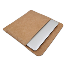New Product Ideas 2018 Washable Kraft Paper Leather Felt Laptop Case Bag For Macbook Air 11.6 Inch, 13.3 Inch